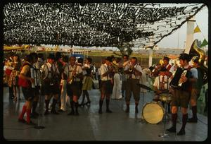 Primary view of object titled '[Los Conquistadores Musical Group at the 4th Annual Texas Folklife Festival]'.