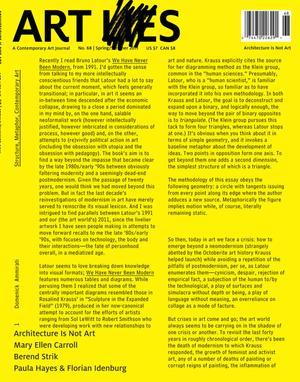 Art Lies, Volume 68, Spring/Summer 2011, Art Lies, ART LIES, Art Lies, A Contemporary Art Journal, No. 68, Art Lies, Architecture Is Not Art