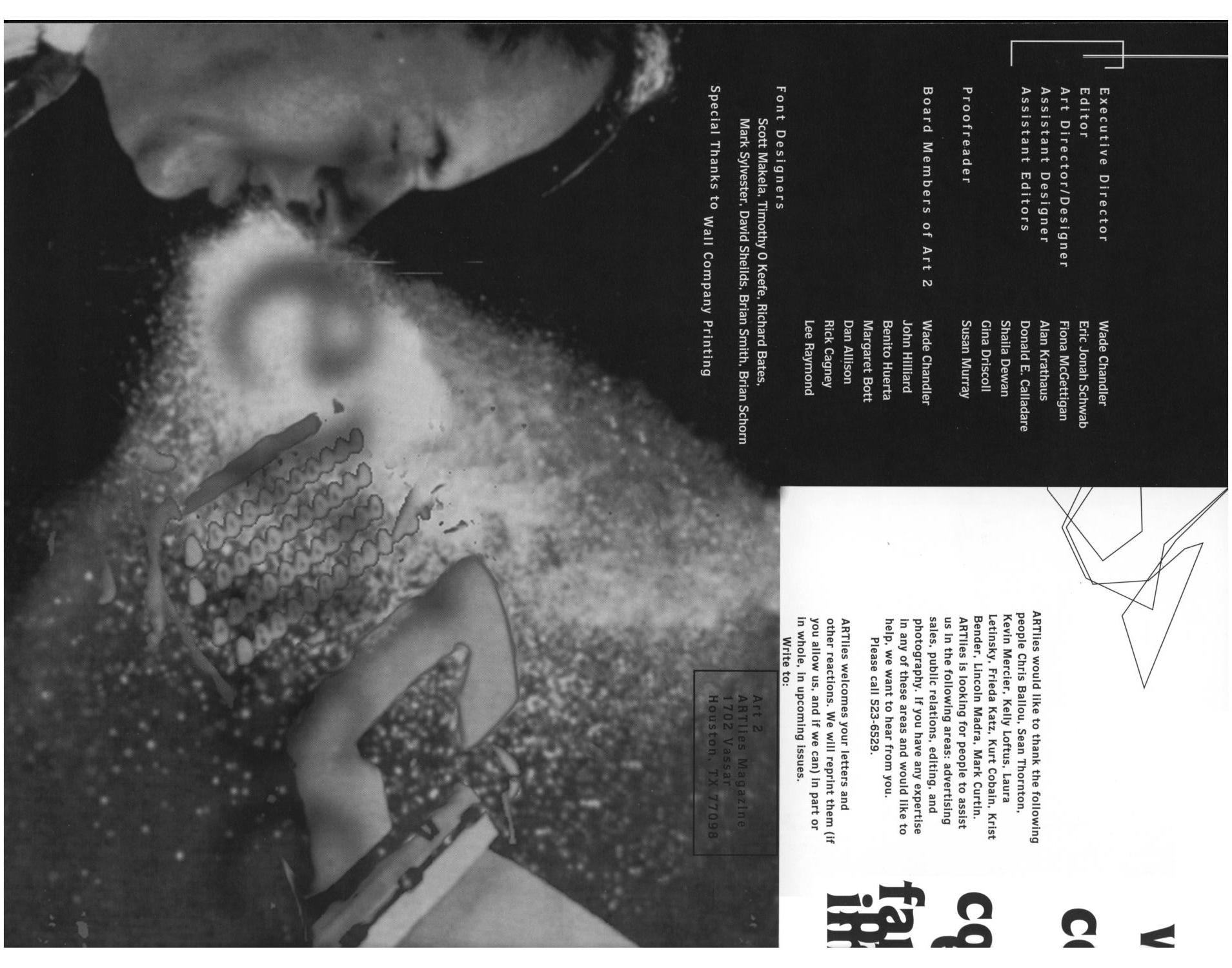 Art Lies, Volume 2, May-June 1994                                                                                                      Front Inside