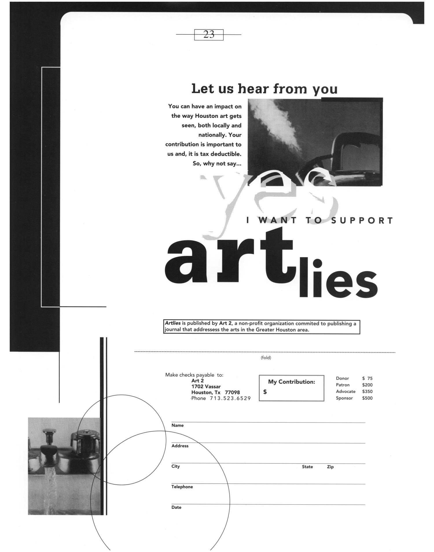 Art Lies, Volume 2, May-June 1994                                                                                                      Back Inside