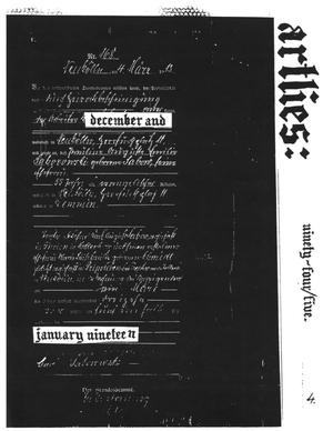 Primary view of object titled 'Art Lies, Volume 4, December 1994-January 1995'.