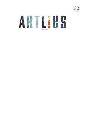 Primary view of object titled 'Art Lies, Volume 32, Fall 2001'.