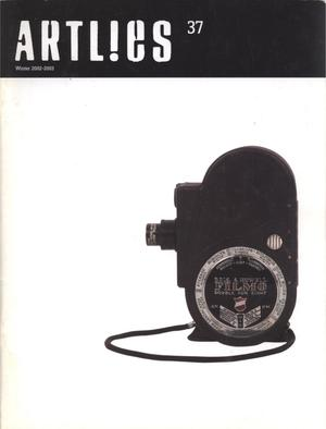 Primary view of object titled 'Art Lies, Volume 37, Winter 2002-2003'.
