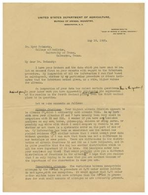 Primary view of object titled '[Letter from Paul E. Howe to Meyer Bodansky - May 1925]'.