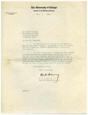 Primary view of object titled '[Letter from B. C. H. Harvey to Meyer Bodansky - June 1935]'.