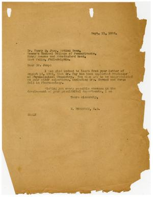 Primary view of object titled '[Letter from Meyer Bodansky to Henry D. Jump - September 1935]'.