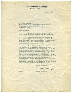 Primary view of object titled '[Letter from Allan T. Kenyon to Meyer Bodansky - May 1936]'.