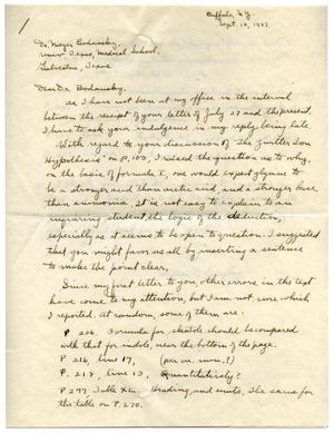 Primary view of object titled '[Letter from Wilson D. Langley to Meyer Bodansky - September 1937]'.
