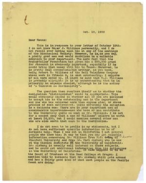 Primary view of object titled '[Letter of Recommendation from Meyer Bodansky - October 1938]'.