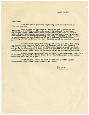 "Primary view of object titled '[Letter from Oscar Bodansky to ""Mike"" - April 1939]'."
