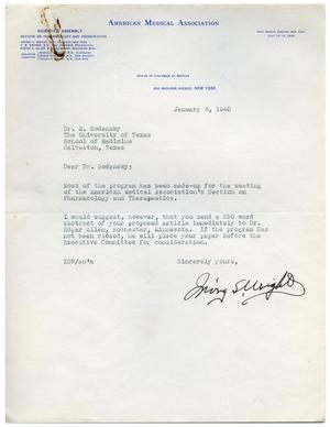 Primary view of object titled '[Letter from Irving S. Wright to Meyer Bodansky - January 8, 1940]'.