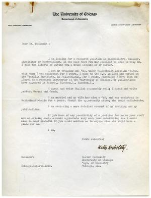 Primary view of object titled '[Letter from Walter Kocholaty to Meyer Bodansky - January 9, 1940]'.