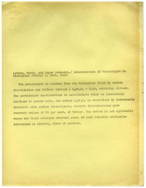 Primary view of object titled '[Correspondence between Meyer Bodansky and the Editors of The Journal of Biological Chemistry - January 11, 1940]'.