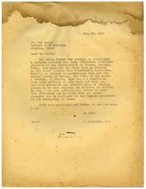 Primary view of object titled '[Letter from Meyer Bodansky - January 16, 1940]'.