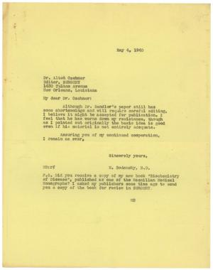 Primary view of object titled '[Correspondence between Alton Oschner and Meyer Bodansky - April-May 1940]'.