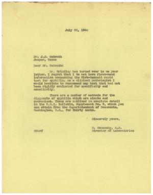Primary view of object titled '[Letter from Meyer Bodansky to J. J. McGrath - July 22, 1940]'.