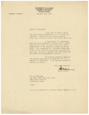 Primary view of object titled '[Letter from Isaac Schour to Meyer Bodansky - December 14, 1940]'.