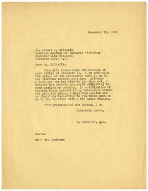 Primary view of object titled '[Letter from Meyer Bodansky to Robert A. Kilduffe - December 18, 1936]'.