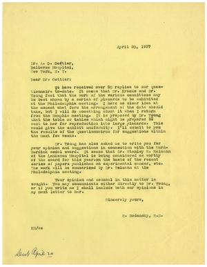 Primary view of object titled '[Letter from Meyer Bodansky to A. O. Gettler - April 20, 1937]'.
