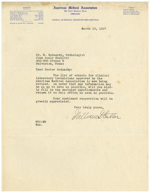 Primary view of object titled '[Letter from William D. Cutter to Meyer Bodansky - March 18, 1937]'.