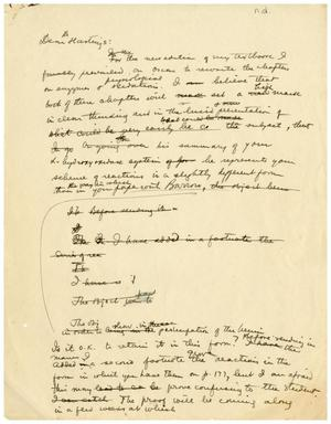 Primary view of object titled '[Draft of a Letter to Hastings]'.