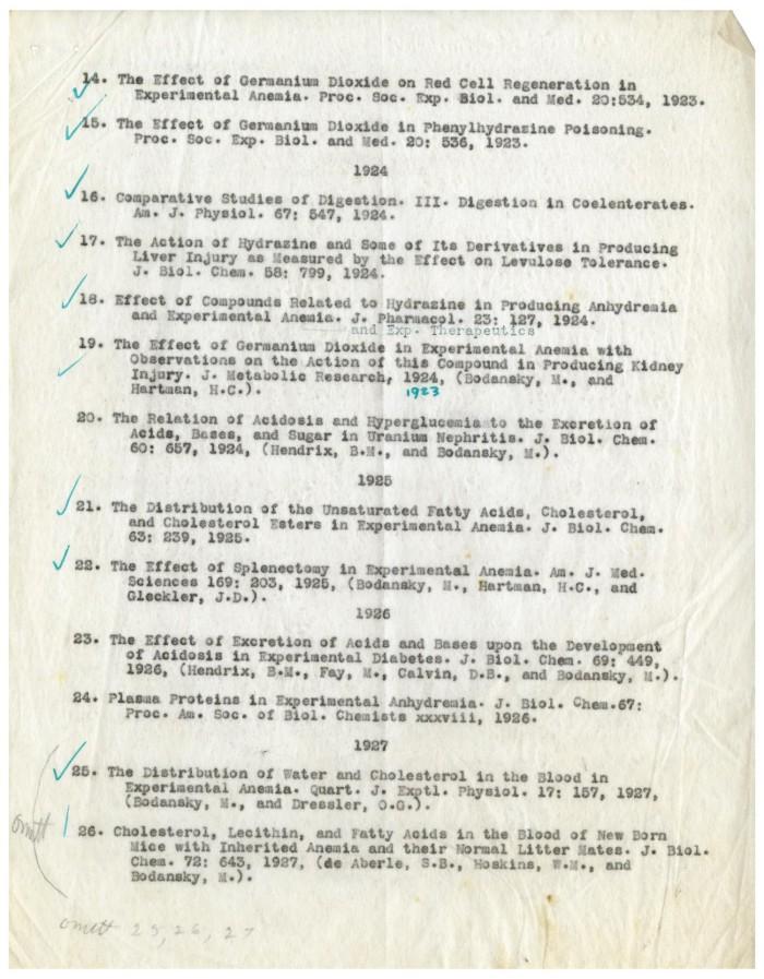 Bibliography of Meyer Bodansky, Ph.D, M.D., Professor of ...