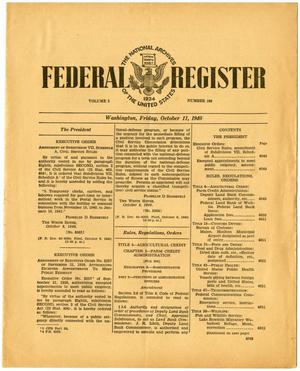 Primary view of object titled 'Federal Register, Volume 5, Number 199, October 11, 1940, Pages 4049-4060'.