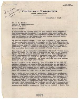 Primary view of object titled '[Letter from Albert K. Epstein to R. K. Brodice - December 5, 1940]'.