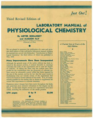 Primary view of object titled '[Laboratory Manual Flyer]'.