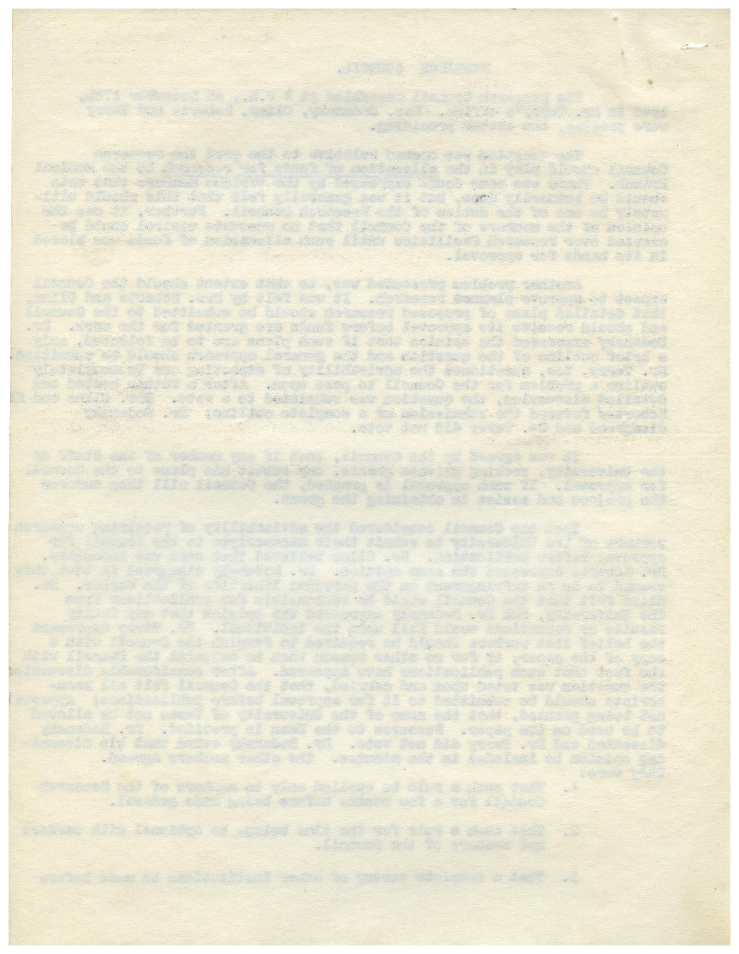 [Minutes for Research Council - December 17, 1940]                                                                                                      [Sequence #]: 2 of 4