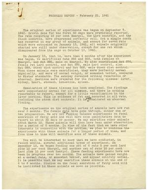 Primary view of object titled '[Research Council Progress Report - February 21, 1941]'.