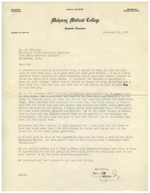 Primary view of object titled '[Letter from Edward Turner to Dr. Meyer Bodansky - November 27, 1936]'.