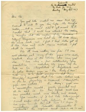 Primary view of object titled '[Letter from Edward Turner to Dr. Meyer Bodansky - May 2, 1937]'.