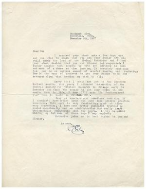 Primary view of object titled '[Letter from Edward Turner to Dr. Meyer Bodansky - December 5, 1937]'.