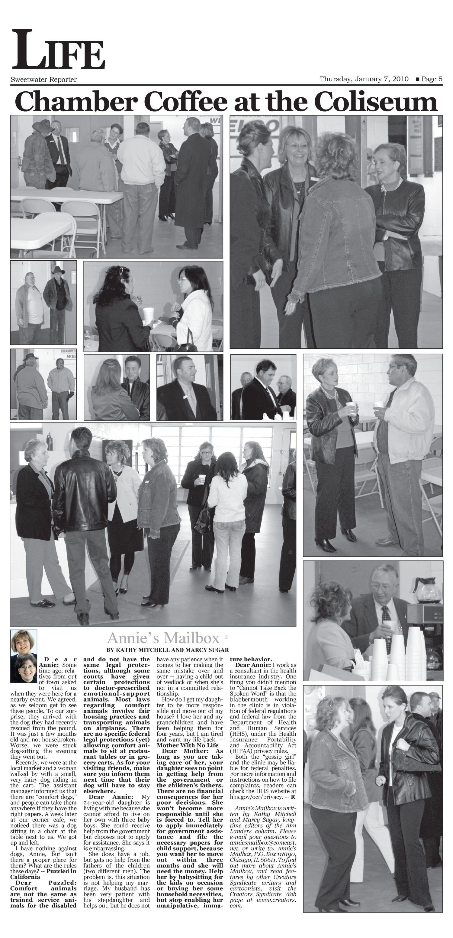 Sweetwater Reporter (Sweetwater, Tex.), Vol. 112, No. 045, Ed. 1 Thursday, January 7, 2010                                                                                                      [Sequence #]: 5 of 10