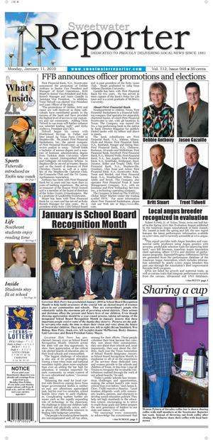 Sweetwater Reporter (Sweetwater, Tex.), Vol. 112, No. 048, Ed. 1 Monday, January 11, 2010