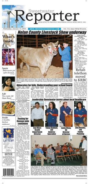 Primary view of object titled 'Sweetwater Reporter (Sweetwater, Tex.), Vol. 112, No. 050, Ed. 1 Wednesday, January 13, 2010'.