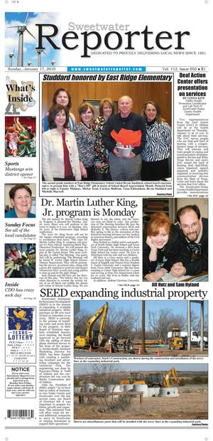 Sweetwater Reporter (Sweetwater, Tex.), Vol. 112, No. 053, Ed. 1 Sunday, January 17, 2010