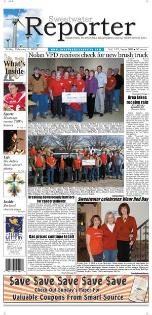 Sweetwater Reporter (Sweetwater, Tex.), Vol. 112, No. 070, Ed. 1 Friday, February 5, 2010
