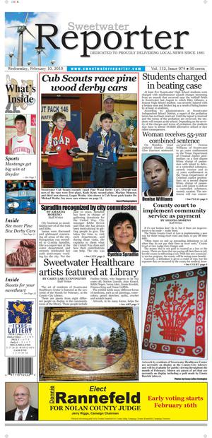 Sweetwater Reporter (Sweetwater, Tex.), Vol. 112, No. 074, Ed. 1 Wednesday, February 10, 2010