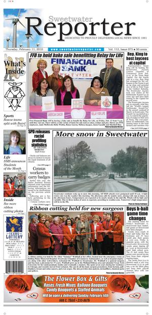 Sweetwater Reporter (Sweetwater, Tex.), Vol. 112, No. 075, Ed. 1 Thursday, February 11, 2010