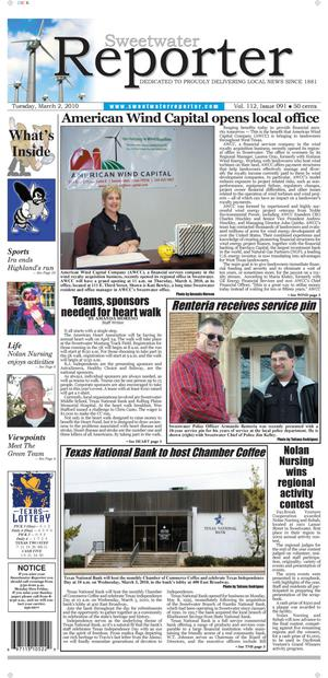 Sweetwater Reporter (Sweetwater, Tex.), Vol. 112, No. 091, Ed. 1 Tuesday, March 2, 2010