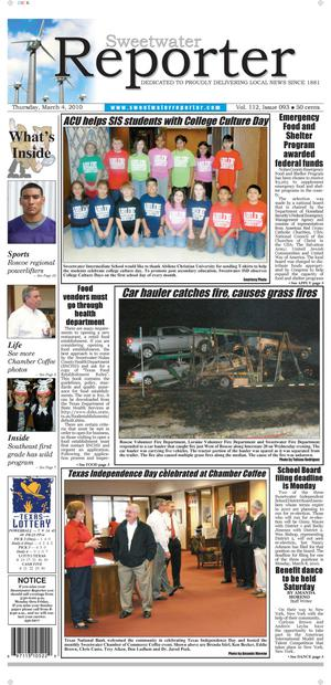 Sweetwater Reporter (Sweetwater, Tex.), Vol. 112, No. 093, Ed. 1 Thursday, March 4, 2010