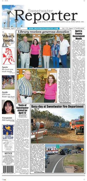Sweetwater Reporter (Sweetwater, Tex.), Vol. 112, No. 117, Ed. 1 Thursday, April 1, 2010