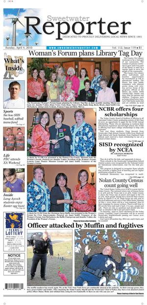 Sweetwater Reporter (Sweetwater, Tex.), Vol. 112, No. 119, Ed. 1 Sunday, April 4, 2010