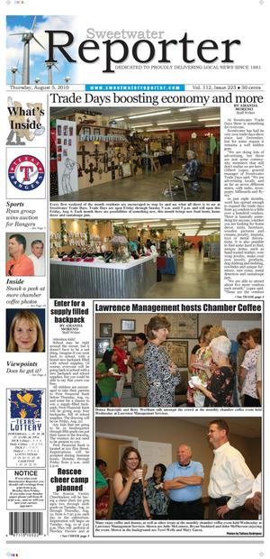Sweetwater Reporter (Sweetwater, Tex.), Vol. 112, No. 223, Ed. 1 Thursday, August 5, 2010