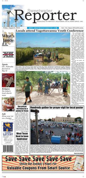 Sweetwater Reporter (Sweetwater, Tex.), Vol. 112, No. 224, Ed. 1 Friday, August 6, 2010