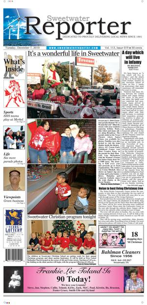 Sweetwater Reporter (Sweetwater, Tex.), Vol. 113, No. 019, Ed. 1 Tuesday, December 7, 2010