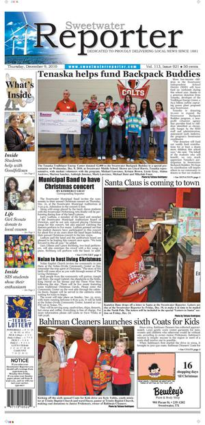 Sweetwater Reporter (Sweetwater, Tex.), Vol. 113, No. 021, Ed. 1 Thursday, December 9, 2010