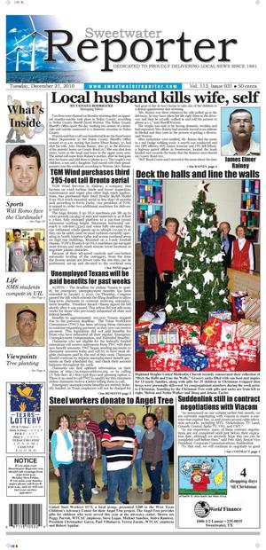 Sweetwater Reporter (Sweetwater, Tex.), Vol. 113, No. 031, Ed. 1 Tuesday, December 21, 2010
